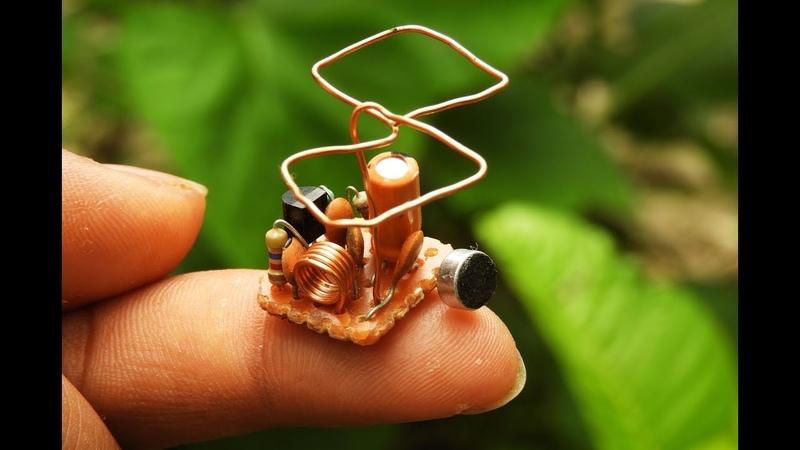 1.5 volt spy F.M transmitter. _500 meter range