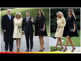 Melania Trump and France's first lady Brigitte Macron put on a stylish display at the White House
