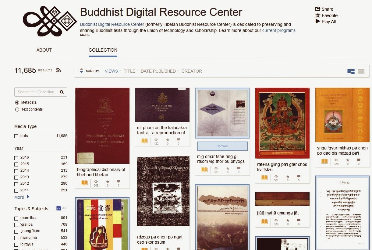 Крупнейшая в мире коллекция буддийской литературы из Тибета выложена онлайн