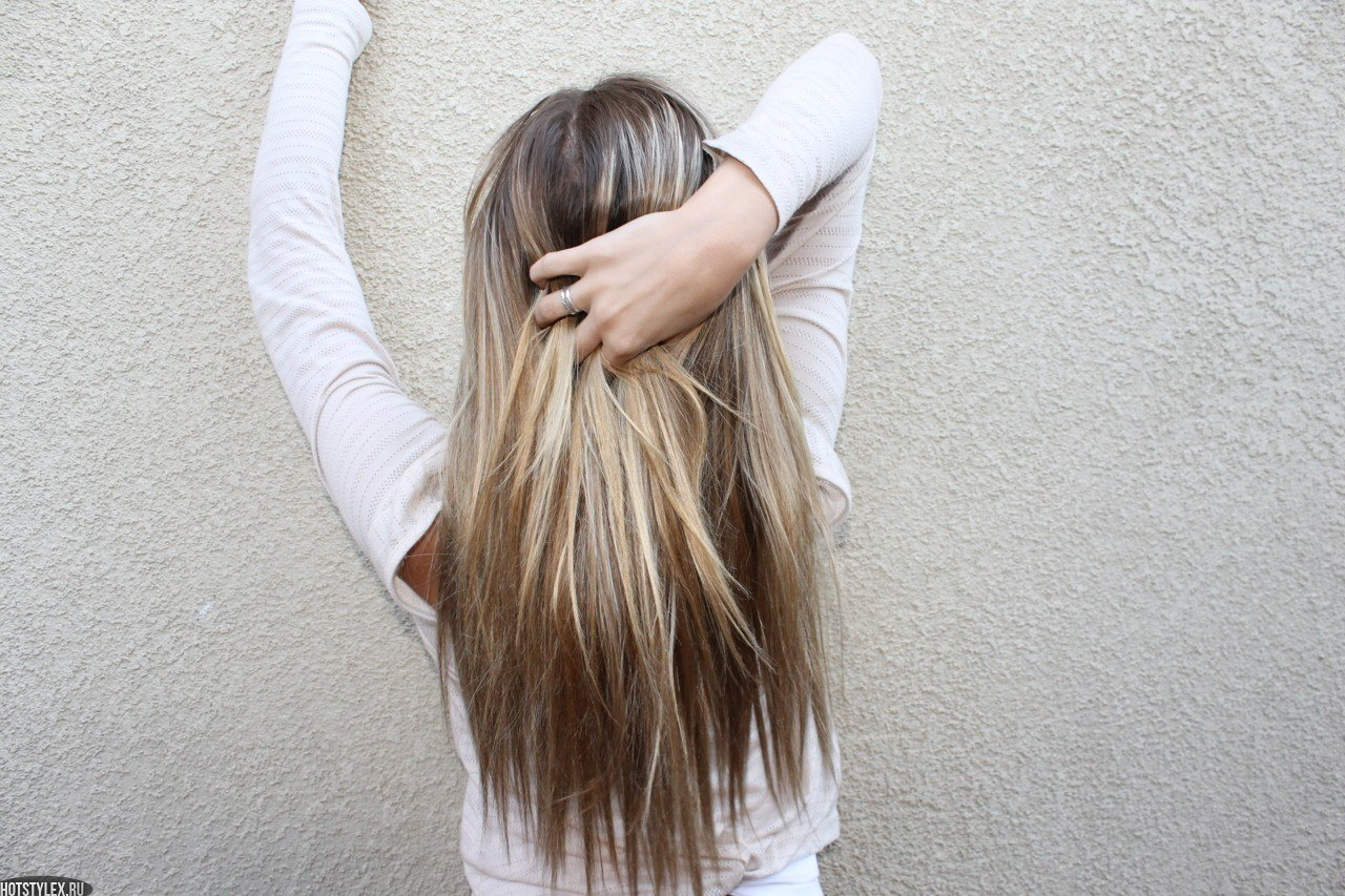 Фотографии красивых девушек со спины с русыми волосами 3 фотография