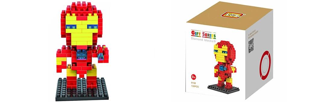 """Конструктор LOZ Diamond Block Gift Series """"Железный человек"""" 9158"""