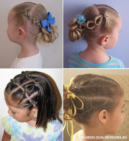 Прически на средние волосы девочке в домашних условиях