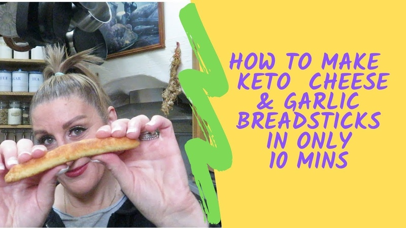 How to make a 10 minute bake Keto garlic Breadstick