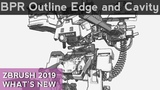 014 ZBrush BPR Filter Cel Shading Outline Edge and Cavity