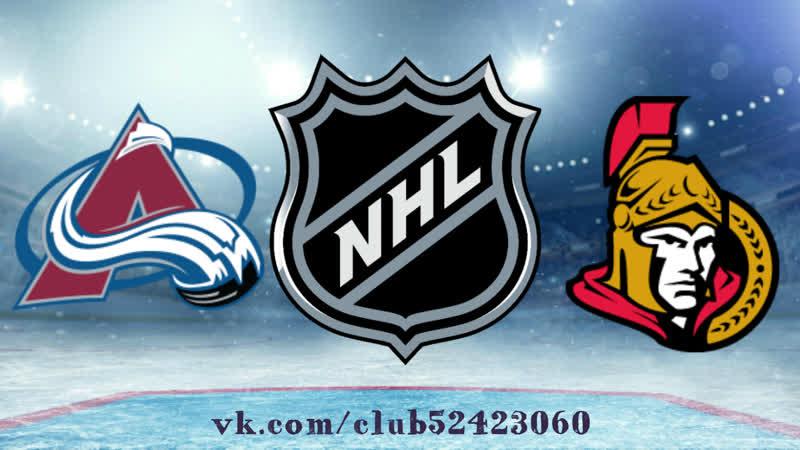 Colorado Avalanche vs Ottawa Senators   16.01.2019   NHL Regular Season 2018-2019