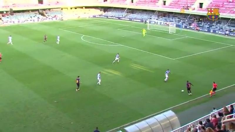 [HIGHLIGHTS] Així va ser l'empat del Barça B davant de l'Atlético Baleares, amb gol d'Aleñá de penal 1-1 Así fue el empate del B
