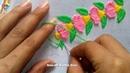 Hand embroidery Border design nakshi katha design