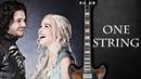 Игра престолов на одной струне! (guitar cover) 1