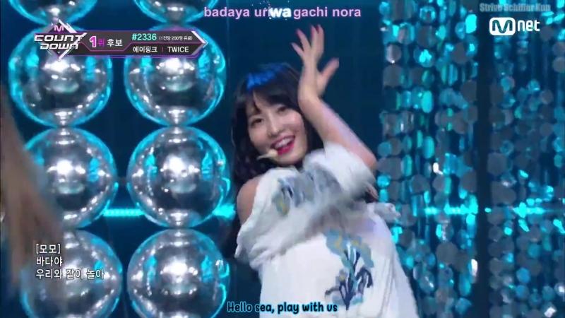 [EngsubKara] M COUNTDOWN EP.579 TWICE - Dance The Night Away (19 Juli 2018)