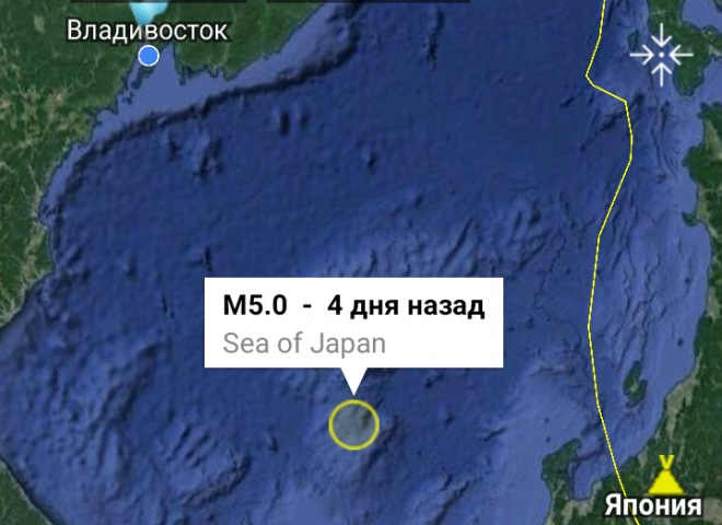 Обзор землетрясений на Дальнем Востоке