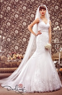 свадебные платья на бретельках 2012