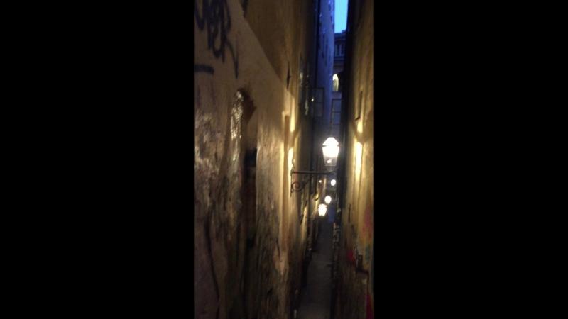2018.07 переулок Мортена Тротзига - самая узкая улица в Стокгольме, Швеция