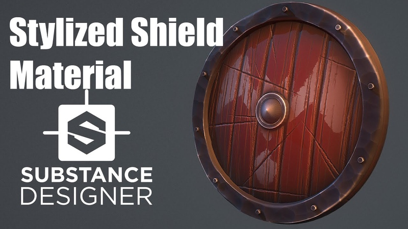 Substance Designer 26 - Stylized Shield Material