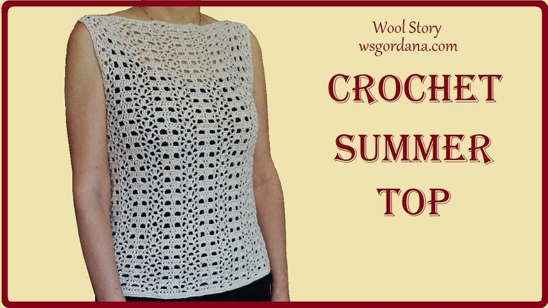 Crochet Easy Summer Top (Lace Pattern) - Heklana čipkana bluza)