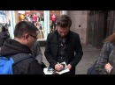 Sebastian Stan  exits the Big Morning Buzz Live show and ...