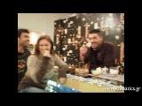 A. Georgiou, M. Fiaka and P. Pilalis Wish Anna Vissi Happy Birthday [fannatics.gr]