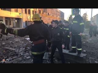МЧС опубликовал видео с места взрыва завода пиротехники под Петербургом