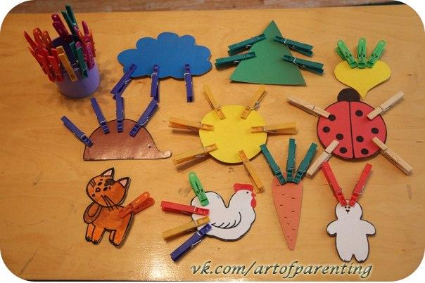 игры с прищепками для детей ЧудоДети
