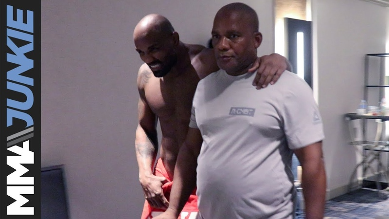A distraught Yoel Romero leaves UFC 225 official weigh-ins after missing weight a distraught yoel romero leaves ufc 225 official