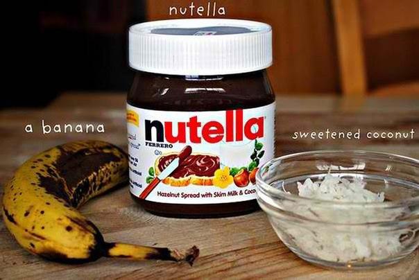 Бананы с Nutella.