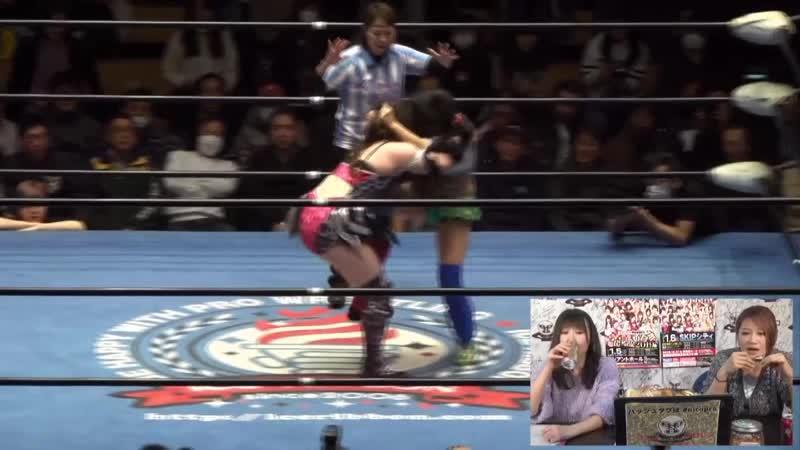 Hamuko Hoshi Mochi Miyagi (c) vs. Kyuri Maika Ozaki - Ice Ribbon New Ice Ribbon 930 ~ RibbonMania 2018