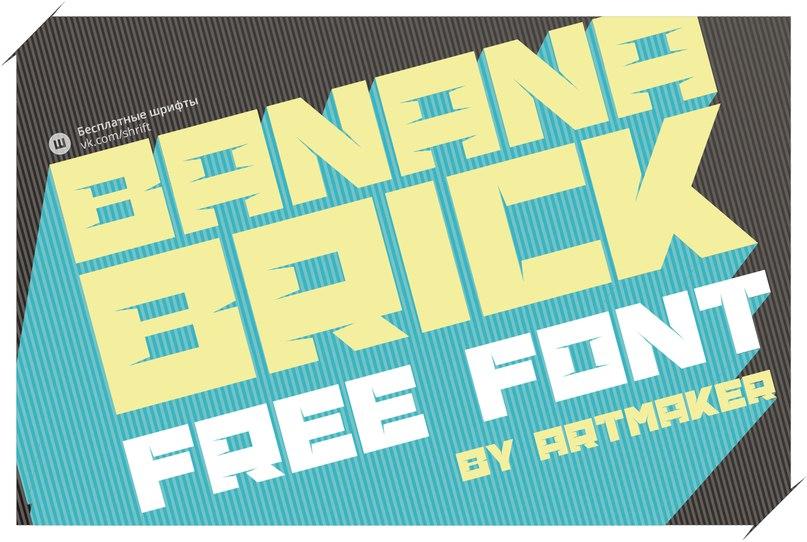 Download banana-brick font (typeface)
