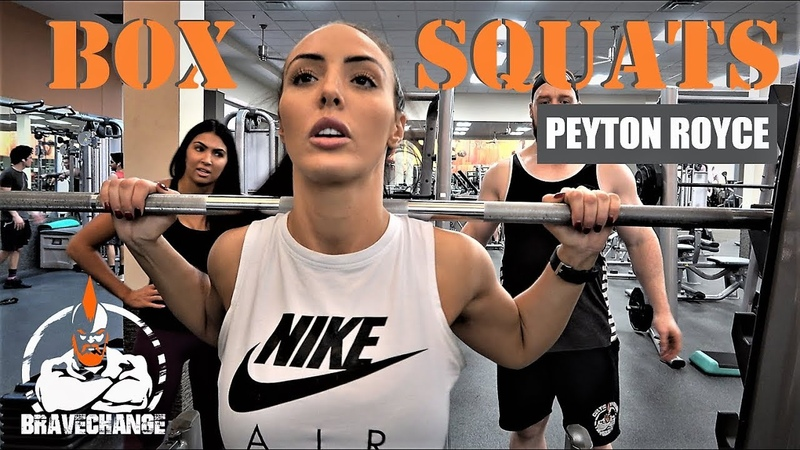 Peyton Royce Box Squats (OWN BODY WEIGHT!)