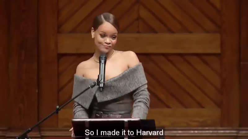 Learn English with Rihanna INCREDIBLE Speech at Harvard University English Sub