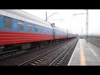 ЭП2К-105 с поездом №2