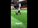 Lovely to see Rui Patricio teaching his young one the true art of the English game from a young age wwfc wolves