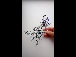 Шпилек много не бывает🤗😉. Фиолетовая и синяя шпилька из бисера,кристаллов, и восхитительно сверкающих бусин 🌹❤️. Цена 350 руб./ш
