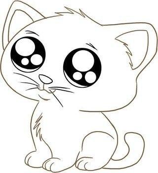 картинки для срисовки котенка