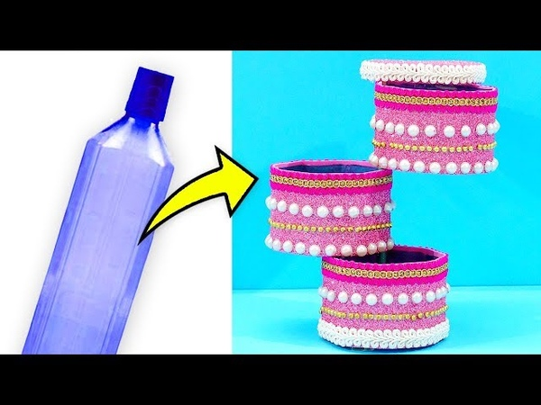 Simply Amazing!! Don't Miss This Unique DIY Plastic Bottle Jewellery Holder | Easy Best Out Of Waste