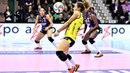 Ошибки приема при подаче Женский волейбол