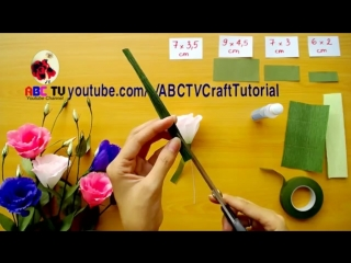 ABC TV _ How To Make Lisianthus Paper Flowers From Crepe Paper - Craft Tutorial.mp4