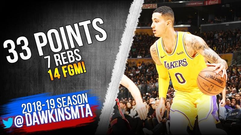 Kyle Kuzma Full Highlights 2018.12.10 Lakers vs Heat - 33 Pts, 7 Rebs!   FreeDawkins