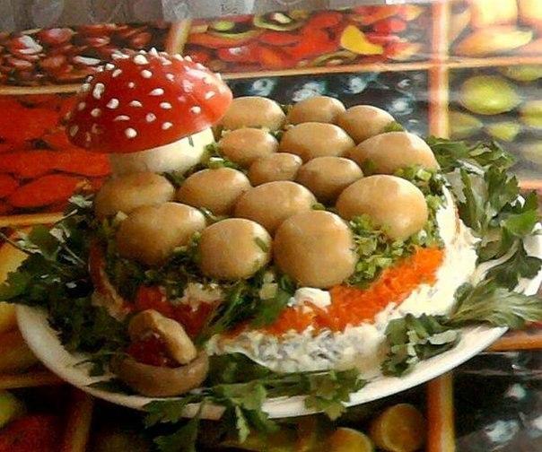 Салат грибная поляна рецепт фото.