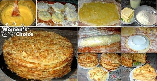 настоящий наполеон торт рецепт с фото