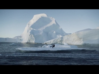 Wakeboarding in greenland