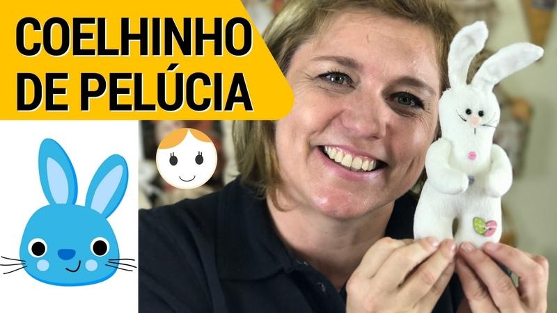 COELHO DE PELÚCIA PIPO PARA PÁSCOA | DIY | PAP | SEGUNDAS ÀS 17H | Drica TV