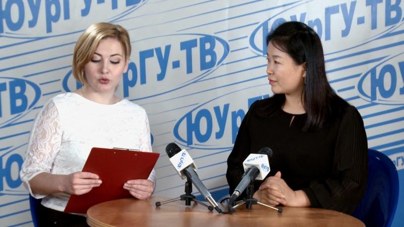 Новости ЮУрГУ ТВ в студии Кристина Дейнеко