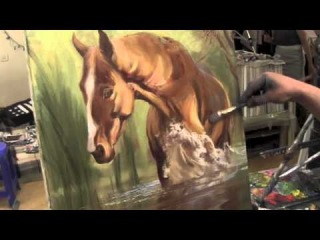 Научиться рисовать лошадь, уроки живописи для начинающих, художник Сахаров Игорь