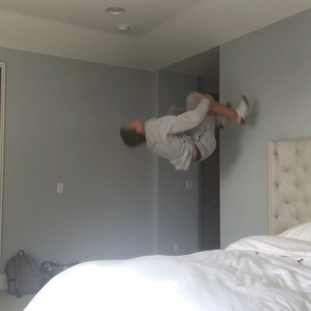 """Solomon Berg on Instagram """"How do you get into bed!😎😴 TAG 3 friends who need to see this👀🙌 video awesome amazing flip flips insane viral ..."""