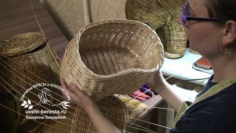 МАСТЕР-КЛАСС Плетение кромки на крышке. Корзина для рыбака, грибника. Лозоплетение.