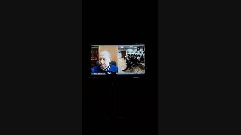 Видеоконференция Москва-Дудинка-Красноярск, посвящённая 75-летию Тегеранской конференции