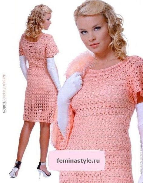 Нежное платье крючком (4 фото) - картинка