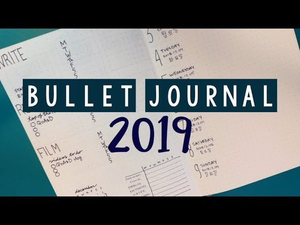 MY BULLET JOURNAL SETUP 2019 | PLAN WITH ME