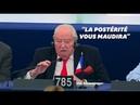 Les derniers mots de Le Pen au Parlement européen