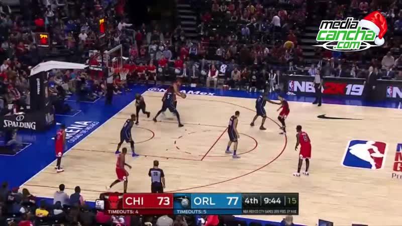 Bulls cae en dramático final 97-91 ante Magic de Orlando