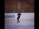 Анастасия Тараканова на тренировке у Плющенко